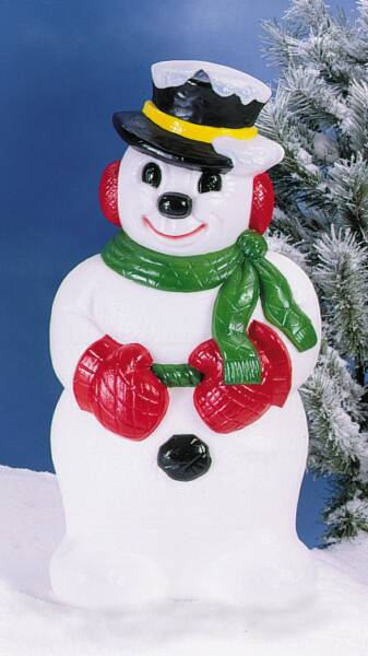 icy snowman with hat
