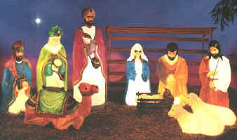 life size nativity scene general foam plastics corp outdoor vintage plastic christmas yard decorations - Lighted Plastic Christmas Yard Decorations